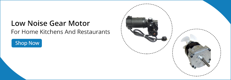 less noise gear motor for home kitchens and restaurants