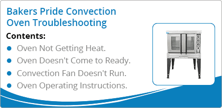 bakers pride convection oven troubleshooting guide