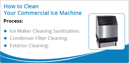 how to clean commercial ice machine
