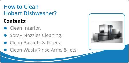how to clean hobart dishwashers