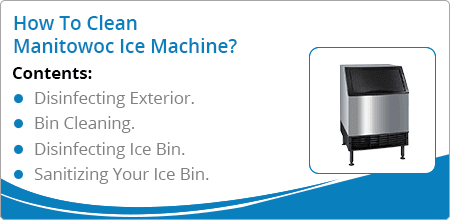 how to clean manitowoc ice machines