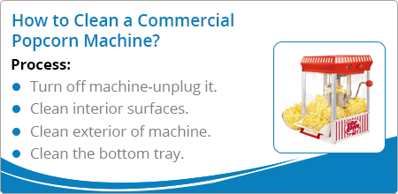 how to clean popcorn machine