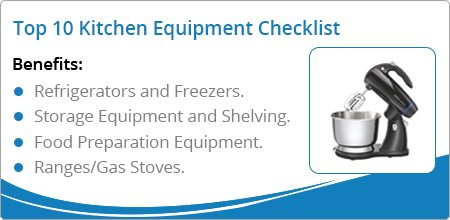 kitchen equipment checklist
