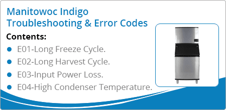 manitowoc indigo troubleshooting error codes