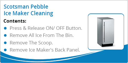scotsman pebble ice maker cleaning guide