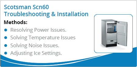 scotsman scn60 troubleshooting installation guide