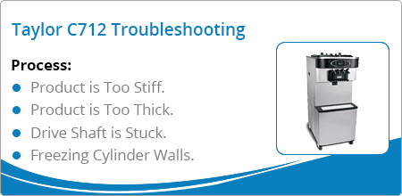 taylor c712 troubleshooting guide