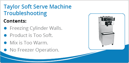 taylor soft serve machine troubleshooting guide