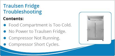 traulsen fridge troubleshooting guide