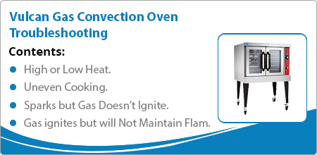 Vulcan gas convection oven troubleshooting guide