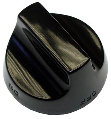 Picture of  Black Open Burner Knob for American Range Part# A32001