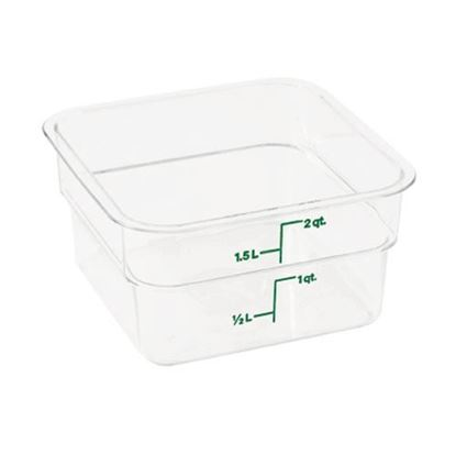 Picture of  Container Clear 2qt for Cambro Part# 2SFSCW