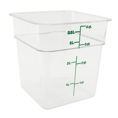 Picture of  Container Clear 4qt for Cambro Part# 4SFSCW