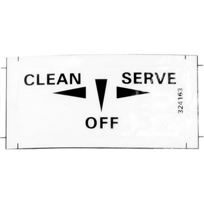 Picture of  Decal - Clean/off/on for Stoelting Part# 324163