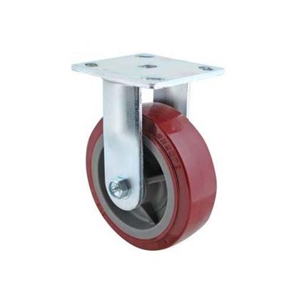 "Picture of  Caster,rigid (red,6"") for Carter Hoffmann Part# 18301-6213"