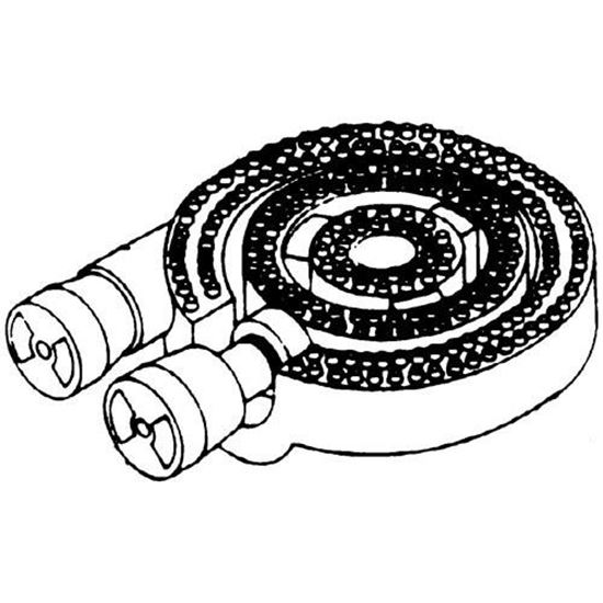 Picture of  Burner Assembly, 3 Ring for DCS (Dynamic Cooking Systems) Part# 12028