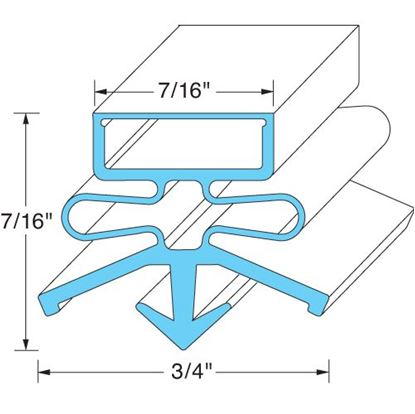 Picture of  Door Gasket for Continental Refrigeration Part# 2-731