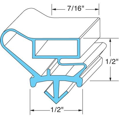 Picture of  Door Gasket for Jordon/fogel Part# GA-214-B