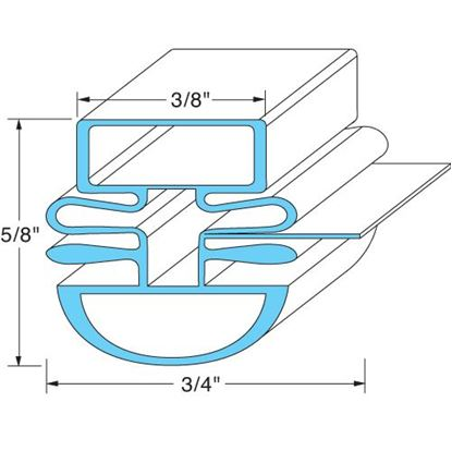 "Picture of  Door Gasket - 24"" x 61"" for Turbo Air Part# P8F3300200"