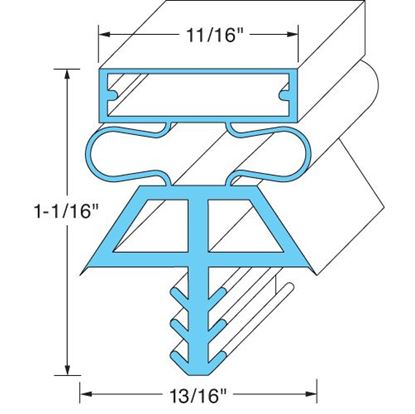 Picture of  Door Gasket - Lh, for Kolpak Part# 22517-1075