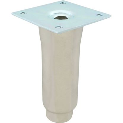 """Picture of Leg (6""""H, S/S, 3.5"""" Plt) for Standard Keil Part# 1072-0641-1755"""