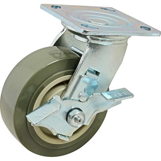 """Picture of Caster,Plate(5""""Od,W/Brake,Gray for Standard Keil Part# 1131-2041-3000"""