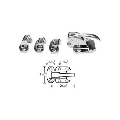 """Picture of Latch (W/Fl,1/8"""",3/8""""Strikes) for Standard Keil Part# 2916-1000-1110"""
