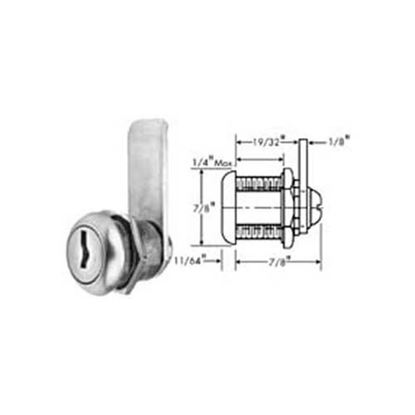 Picture of Lock, Cylinder (S/S Face) for Standard Keil Part# 1230-1210-3000