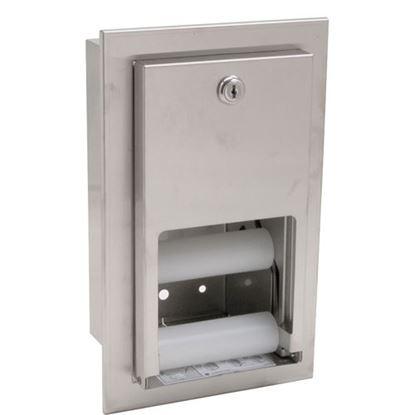 Picture of Dispenser,Tissue(Recessed,S/S) for Bradley Part# BRD5412