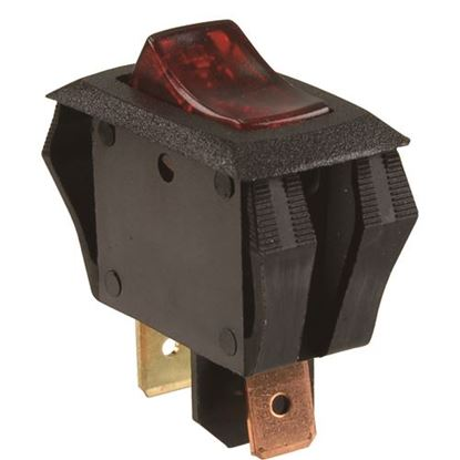 Picture of Switch,Rocker (12V,Red Lens) for Redi-Call Inc Part# 544040