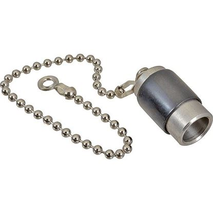Picture of Cap,Drain (Plug W/Chain) for Winston Part# WINPS1654
