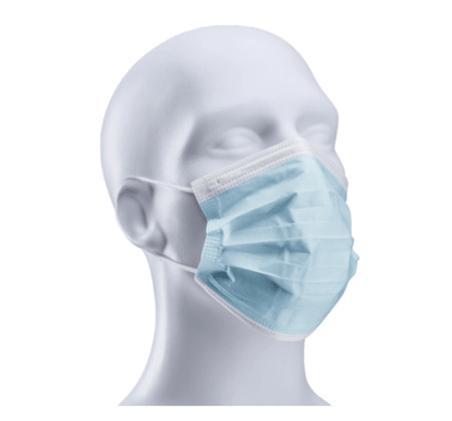 Picture of 3-Ply Disposable Face Mask with Elastic Ear Loops - Pack of 50