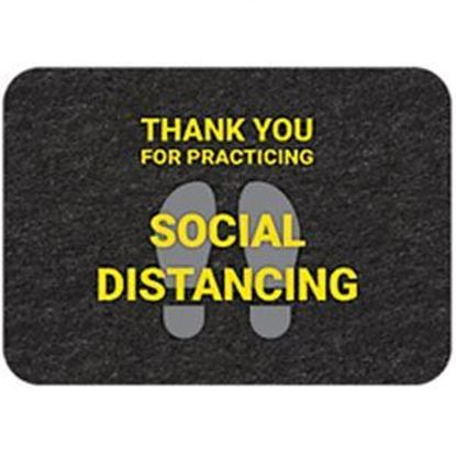 "Picture of ""Thank You for Practicing Social Distancing"" Floor Mat - Pack of 4"