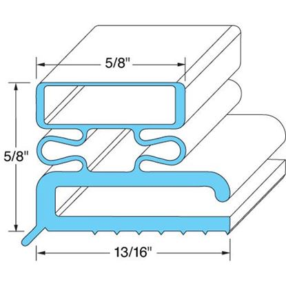 "Picture of Door Gasket23 1/2"" X 59 1/2"" for Kairak Part# 04505"