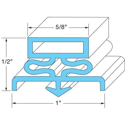 "Picture of Door Gasket21 5/8"" X 59 5/8"" for Kairak Part# 09503"