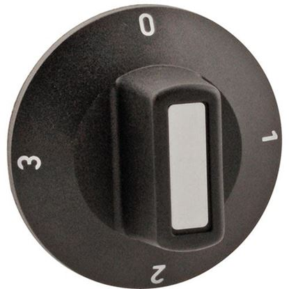 Picture of Dial,Infinite Control, 0-3 for Low Temp Manufacturing Part# KNOBONLY