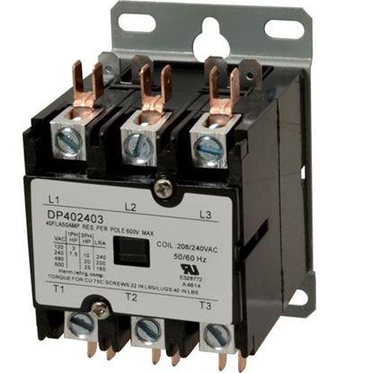 Picture of Contactor(3 Pole,40 Amp,240V) for Jackson/Dalton Dishwasher Part# 123000